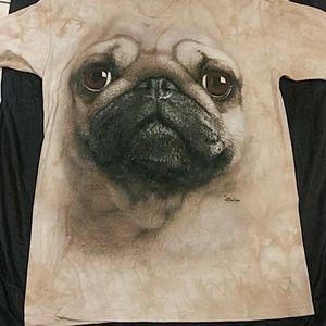 Men's The Mountain Pug Dog Shirt Size L